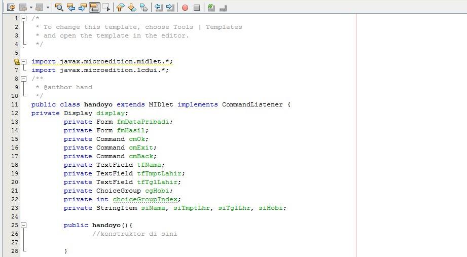 Membuat Form pengisian data diri dengan Java ME – INFO