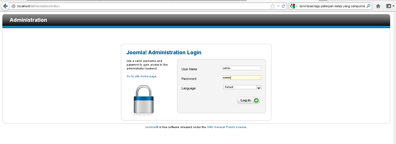 Membuat Website CMS dengan Joomla – INFO KNOWLEDGE