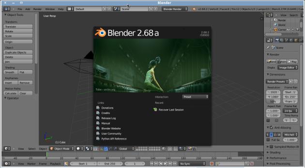 Install Blender di Linux Ubuntu 12.04 – INFO KNOWLEDGE